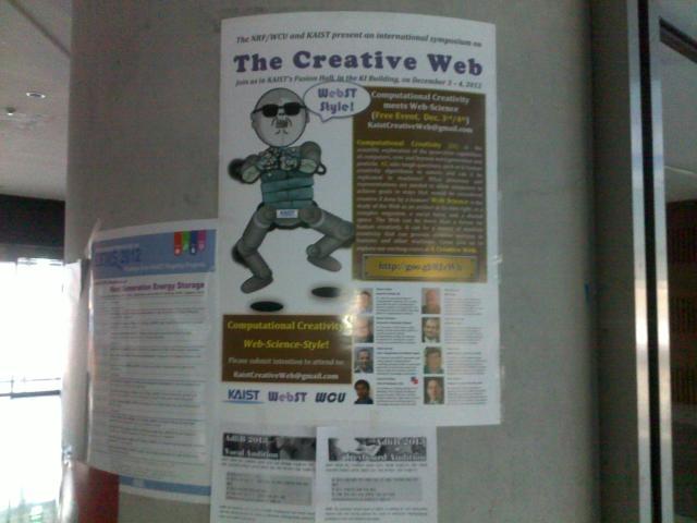 Poster kegiatan di KAIST, terpengaruh Gangnam Style juga rupanya, he..he