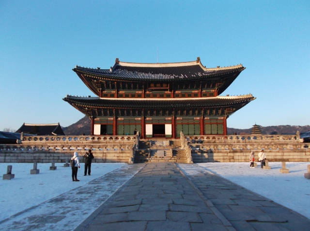 Bekas istana kerajaan Korea zaman dulu. Ini bangunan utamanya.