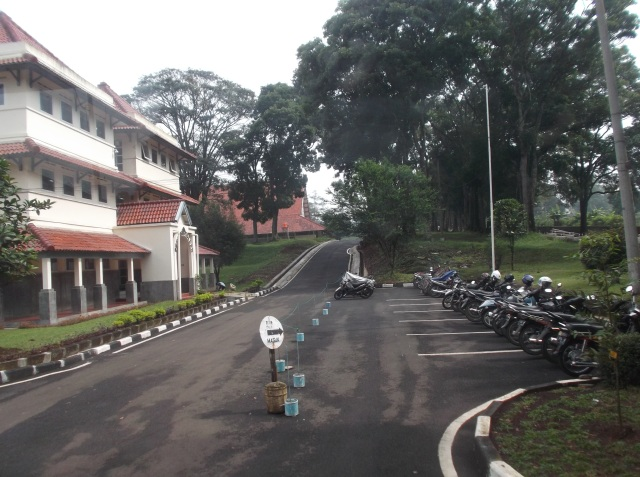 Jalan di dalam kampus.