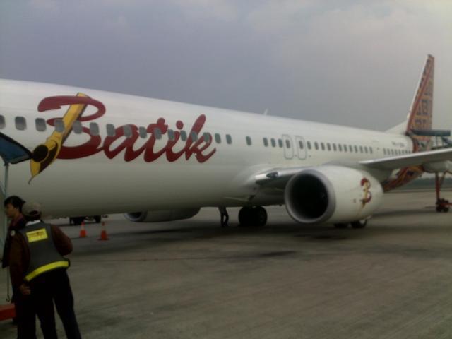 Pesawat Batik Air di Terminal 3 Bandara Soeta.