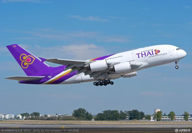 Pesawat Thai Airways (Sumber foto: http://www.airlinereporter.com/tag/thai-airways-international/)