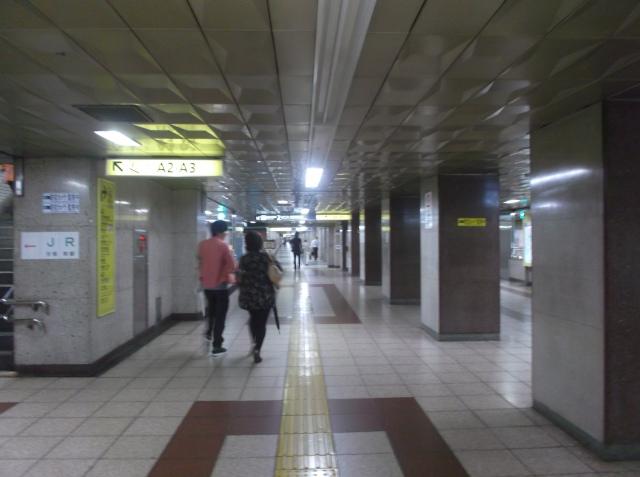 Suasana di dalam subway, terang benderang seperti bukan di bawah tanah saja.