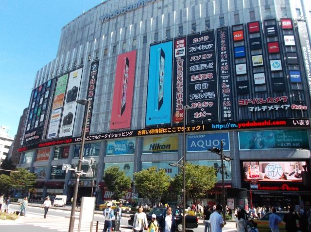 Pusat perbelanjaan di Akihabara, menyatu dengan stasiun kereta.