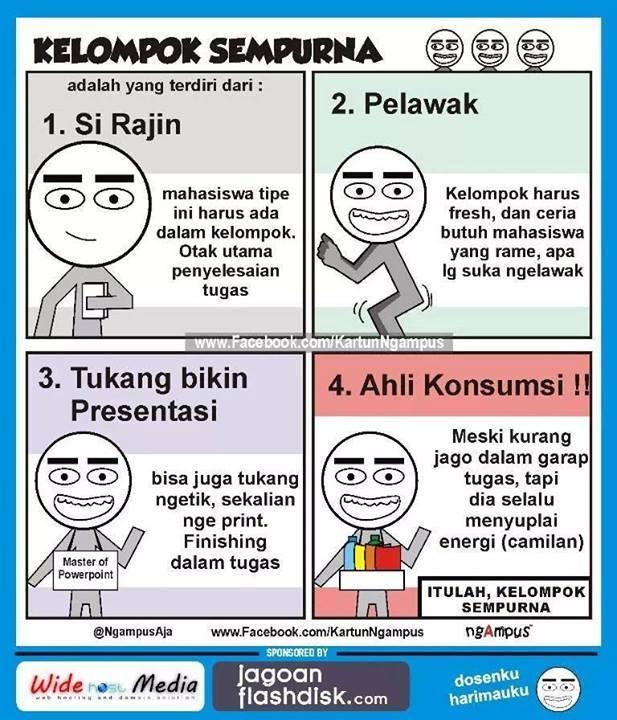 Stereotip mahasiswa (Sumber: www.Facebook/KartunNgampus