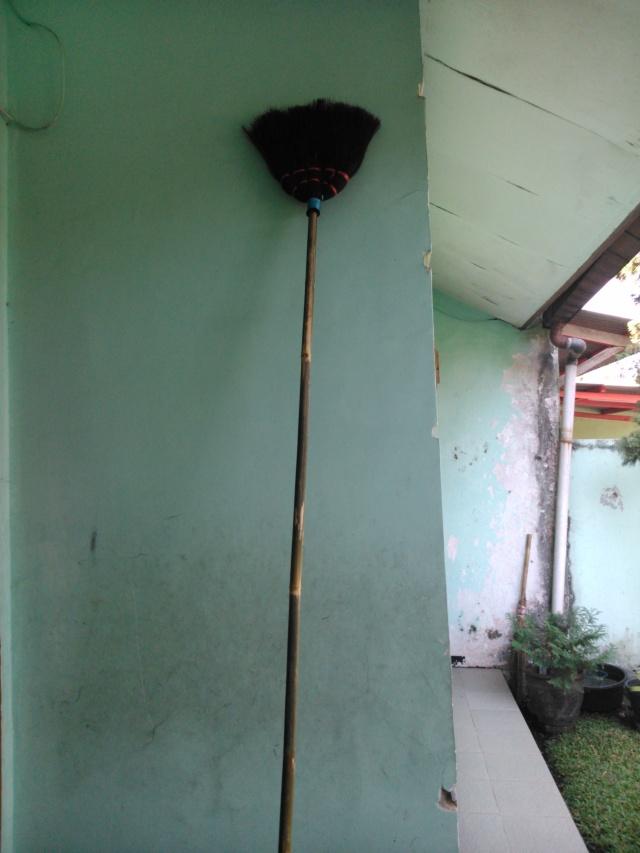 Sapu panjang yang saya beli dari si Mamang.