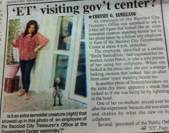 Berita alien tertangkap kamera di Filipina.