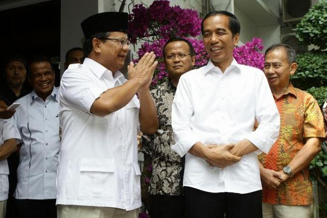 Pertemuan Jokowi dan Prabowo di kediaman Prabowo di Kebayoran Baru hari ini. (Sumber.detik.com)