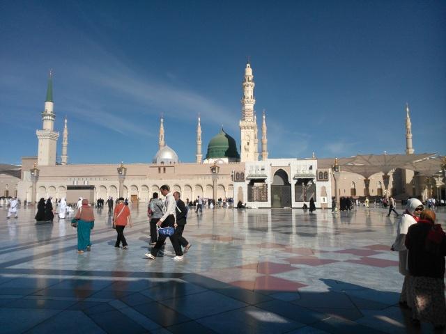 Masjid Nabawi (bagian depan)