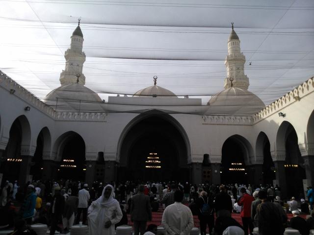 Di dalam Masjid Quba