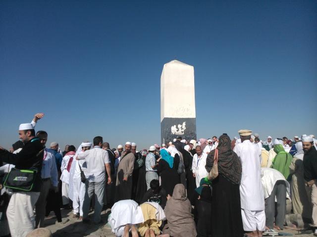 Tugu di atas Jabal Rahmah