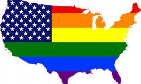 Simbol pelangi mewakili kelompok LGBT (Lesbian, Gay, Bisexual, Transgender)