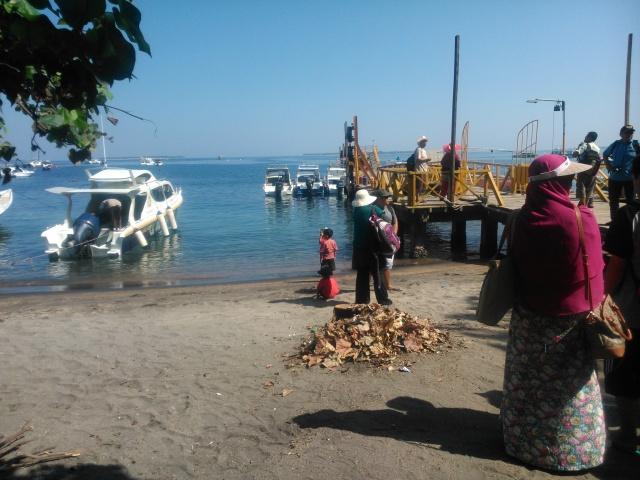 Pelabuhan penyeberangan ke Gili Terawangan